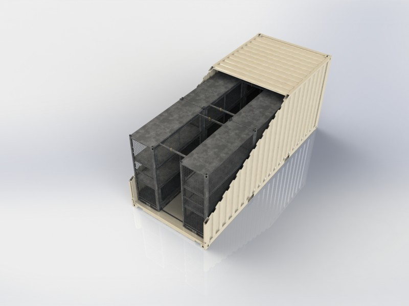 SLIM CWXL with POB-Rack Kit for 20ft Container