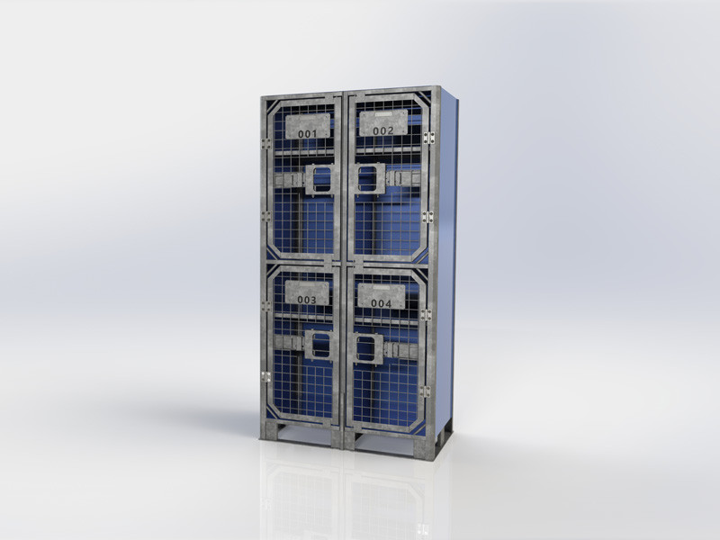QUAD LOCKER Plated Sides and Back - Blue